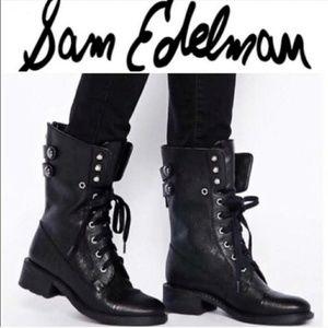 Sam Edelman Leather Combat Boot